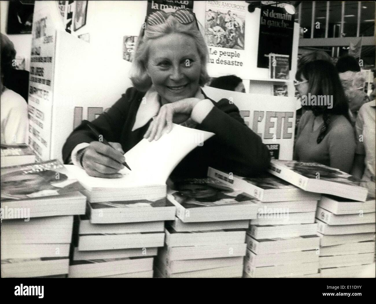 May 11, 1977 - She was at the International Book Festival in Nice. - Stock Image