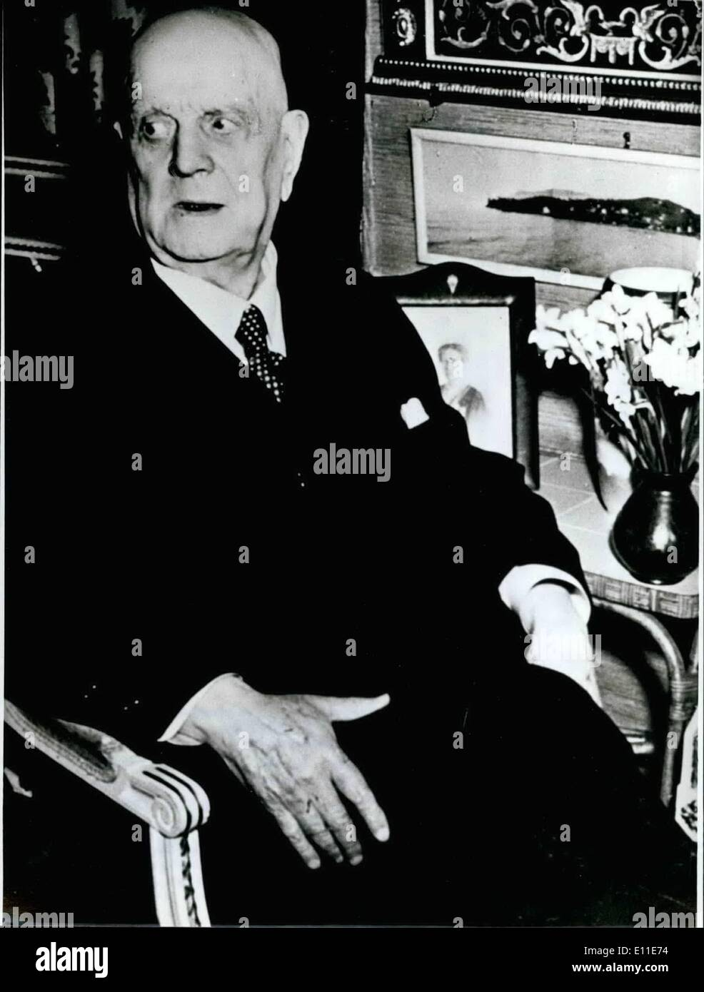 Sep. 09, 1977 - 20th Day Of Death Of Jean Sibelius: In this year it is 20th anniversary of Jean Sibelius' death (JEAN SIBELIUS - our picture), - the famous Finnish composer died on September 20th, 1957 in Jarvenpaa near Helsinki. Sibelius studied n Germany and Austria and after his time of education 1893 he was teacher for theory at the conservatoire in Helsinki. His artistic activity has its roots in the Finnish national character and gets its deepest impression from the intimate meeting with the landscape of his home - Stock Image