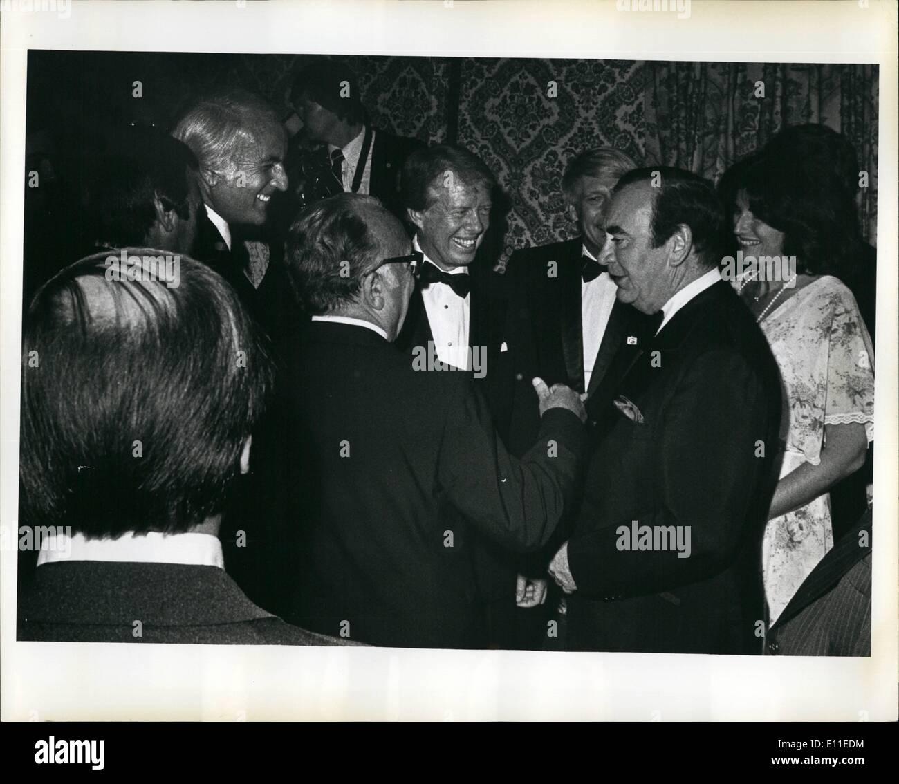 Jun. 06, 1977 - Grand Ballroom Of The Waldrof Astria Hotel New York City: President Carter Attended A 000,00 A Balet fundraiser - Stock Image