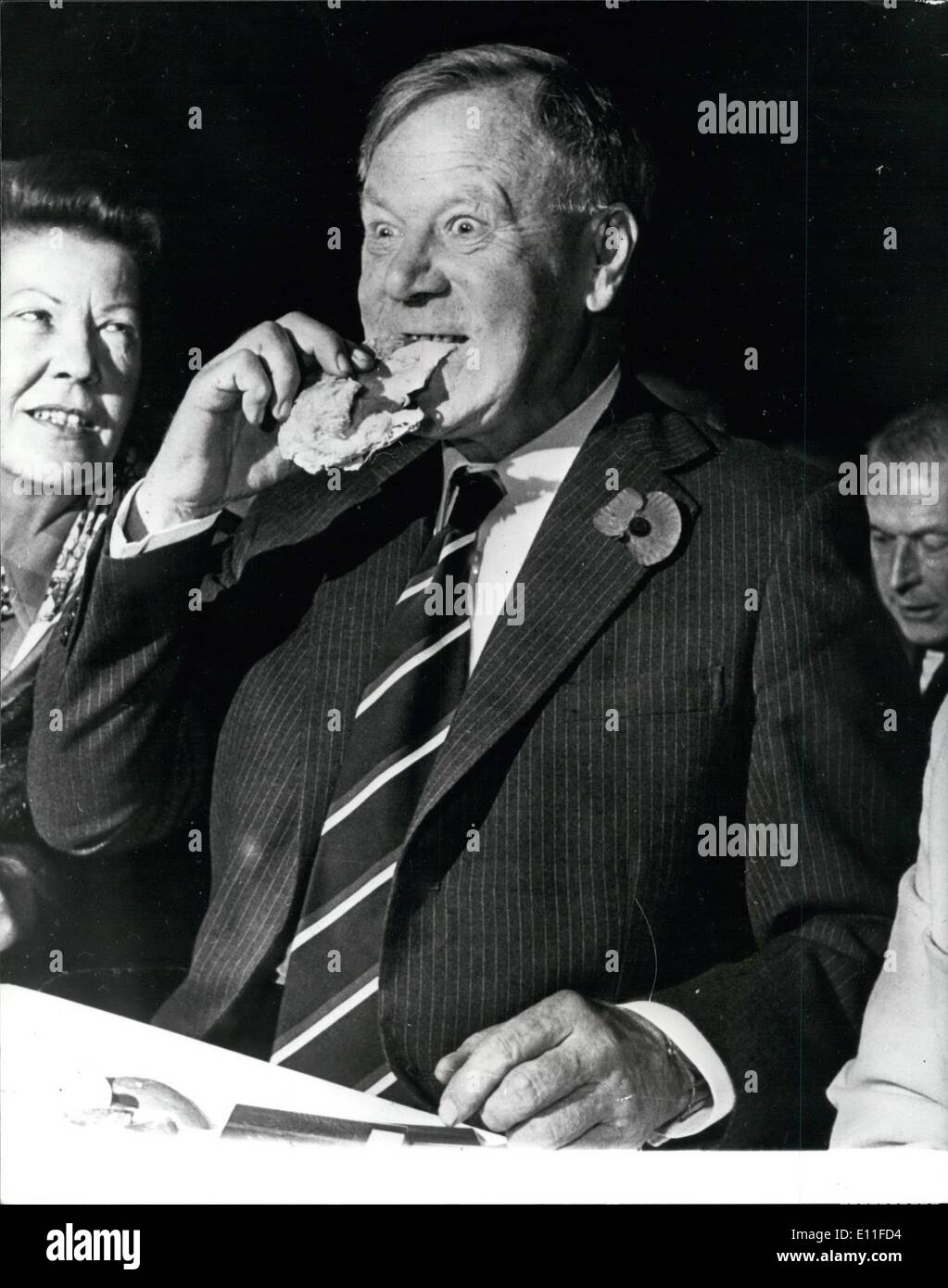 "Oct. 21, 1977 - October 21st 1977 Leyland Chairman Sir Richard Dobson resigns – British Leyland Chairman Sir Richard Dobson has resigned over remarks he made about ""wogs"". The controversial words were spoken during a speech to businessmen at a private lunch. He said ""Who would have thought that the Daily Mail would have the bloody nerve to bribe somebody £5,000 to reveal the documents, which turned out to be forged, in order to accuse the company of the perfectly respectable fact that it was bribing wogs?"" Photo Shows: Sir Richard Dobson seen when he - Stock Image"