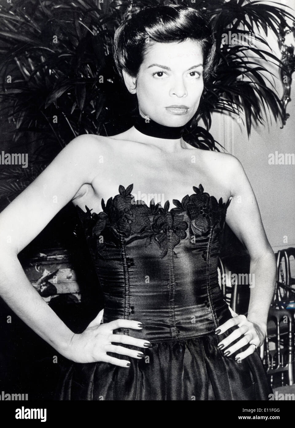 Portrait of actress model Bianca Jagger - Stock Image