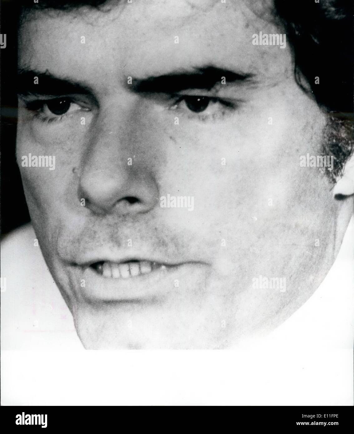 Aug. 08, 1977 - Phillip Agee expelled from France.: Phillip Agee the former CIA agent deported from Britain has now been expelled from France. he told a press conference in Brussels that his exclusion from France was probably due to CIA pressure to help stop him making further exposures about the agency, Mr Agee was arrested on Wednesday last when he met his wife Angela at Boulogne as she arrived from Britain. he said he was held for 15 hours before being driven to the French border town of Little on Thursday and told to board a train to Belgium - Stock Image