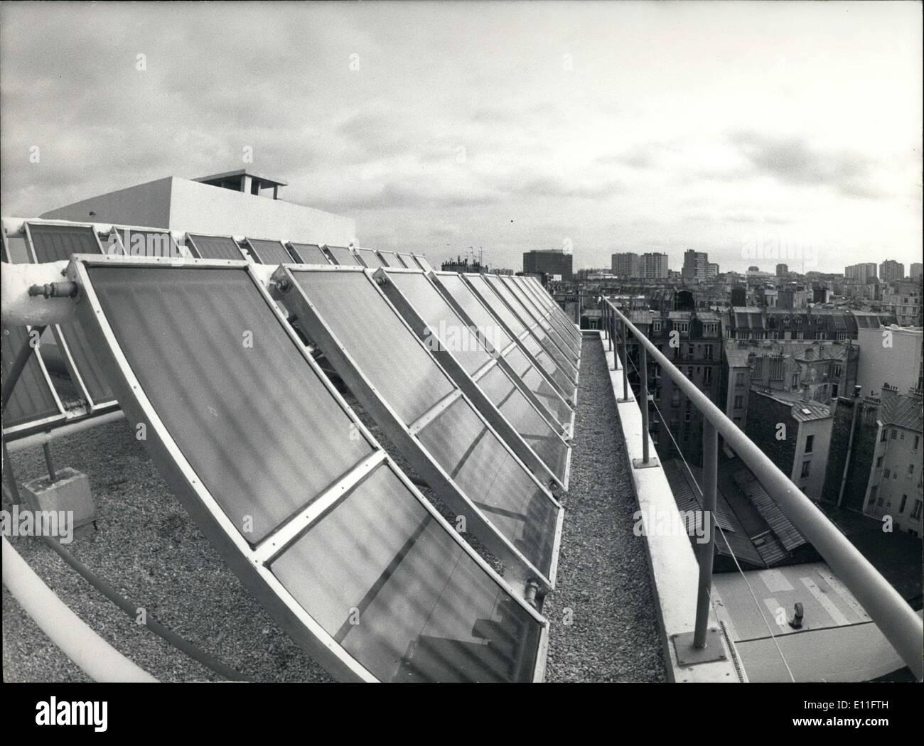 Nov. 08, 1977 - Solar Panels in Paris - Stock Image