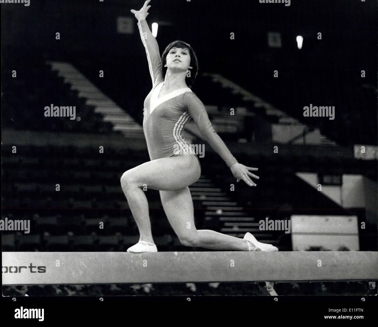 Nov. 10, 1977 - Russian Gymnasts At Empire Pol Wembley: The annual presentation of the Russian Gymnastics and Sports Aerobatics - Stock Image