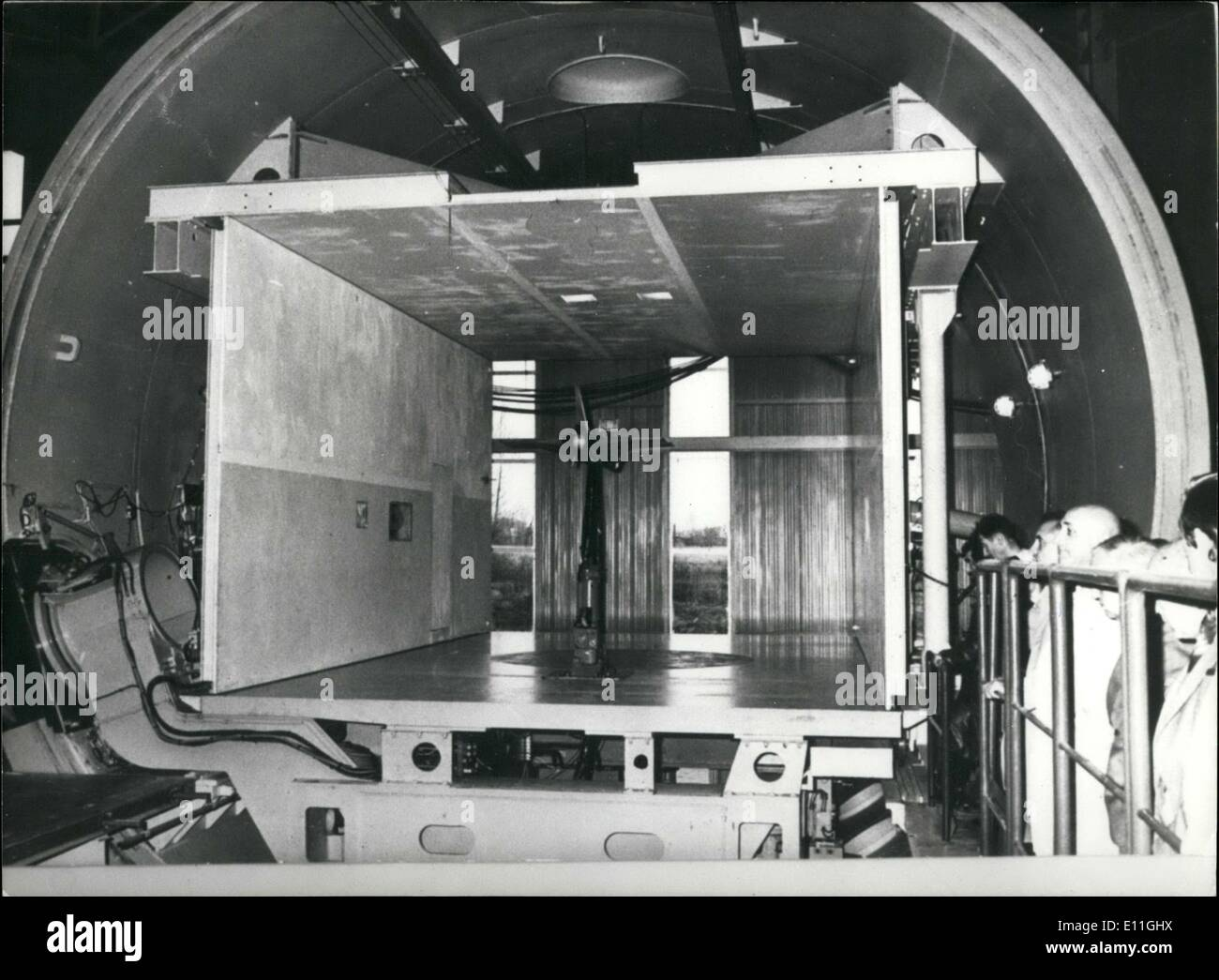 Nov. 21, 1977 - Largest Windtunnel in Europe: F-1 Windtunnel Stock Photo