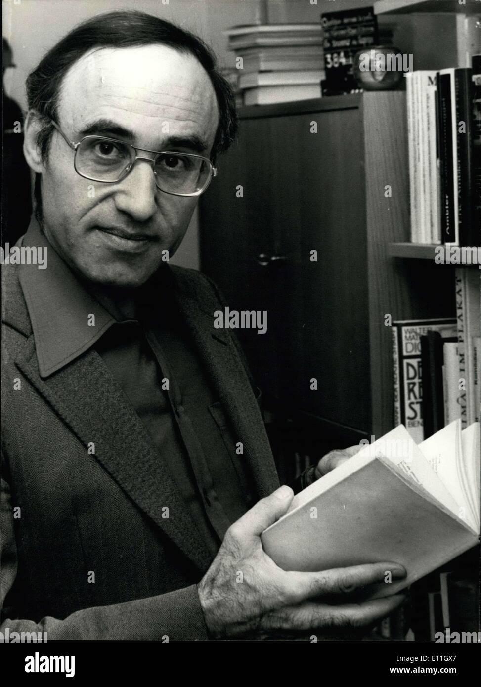 Feb. 21, 1978 - Swiss regisseur honoured by Hollywood for the best horror- film. This Swiss regisseur Nicolas Gessner Stock Photo