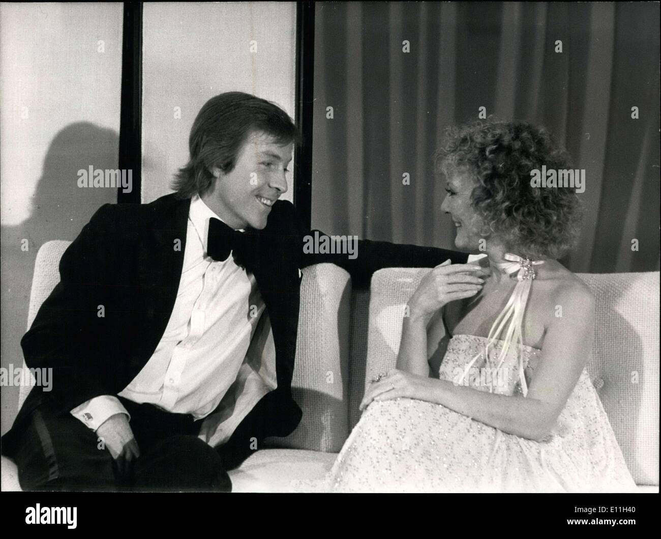 Feb. 24, 1978 - Roddy Llewellyn and Petula Clark During Television Show - Stock Image