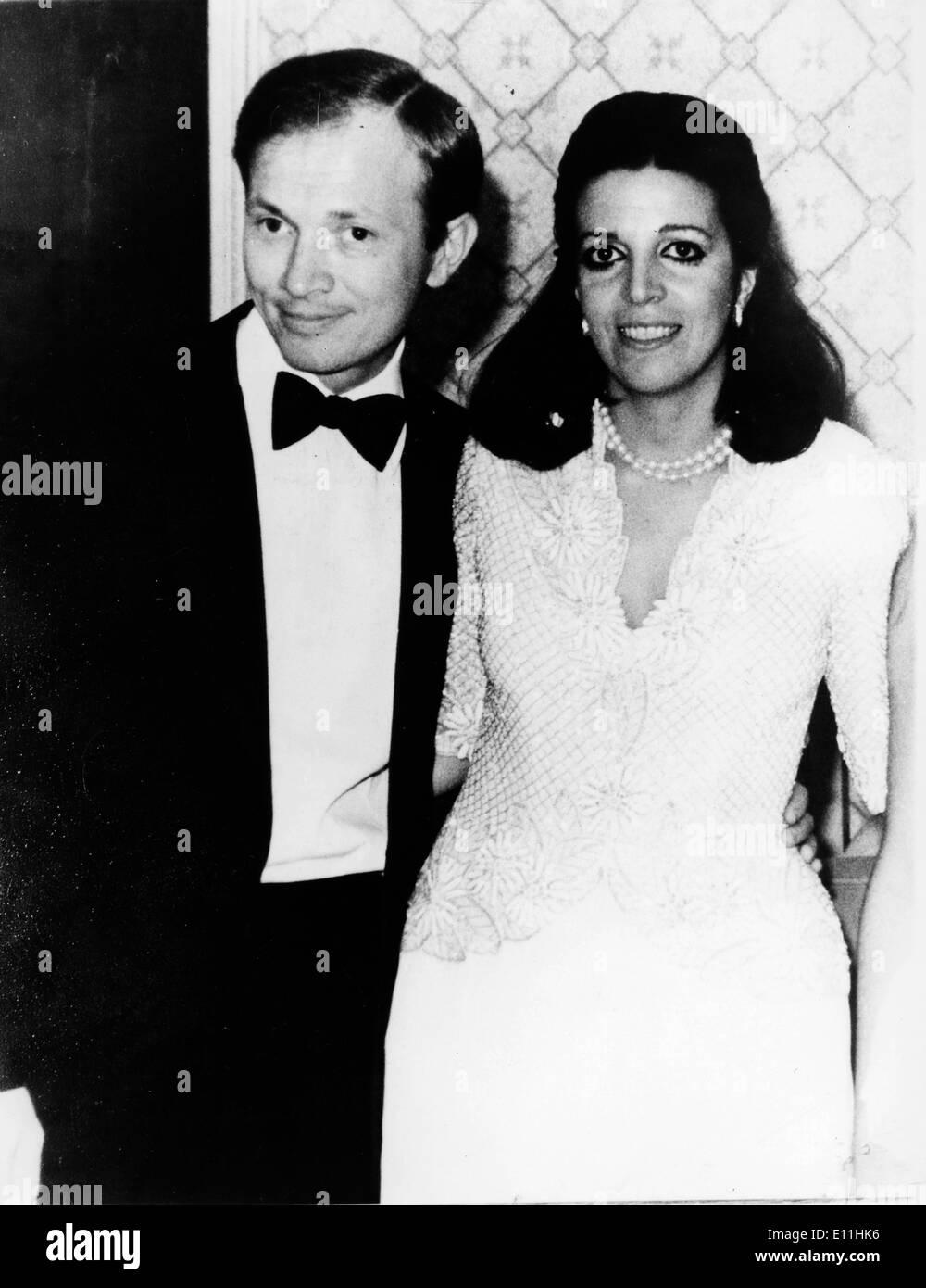 Christina Onassis at party with husband Sergei Kauzov - Stock Image