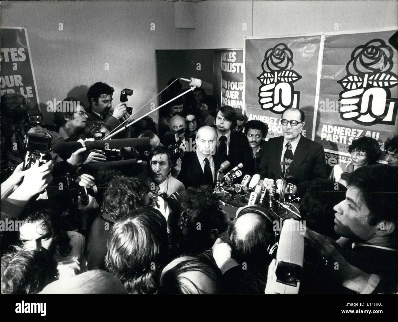 Mar. 20, 1978 - The press conference was held after Socialists learned they had been defeated by the majority party in the election. - Stock Image