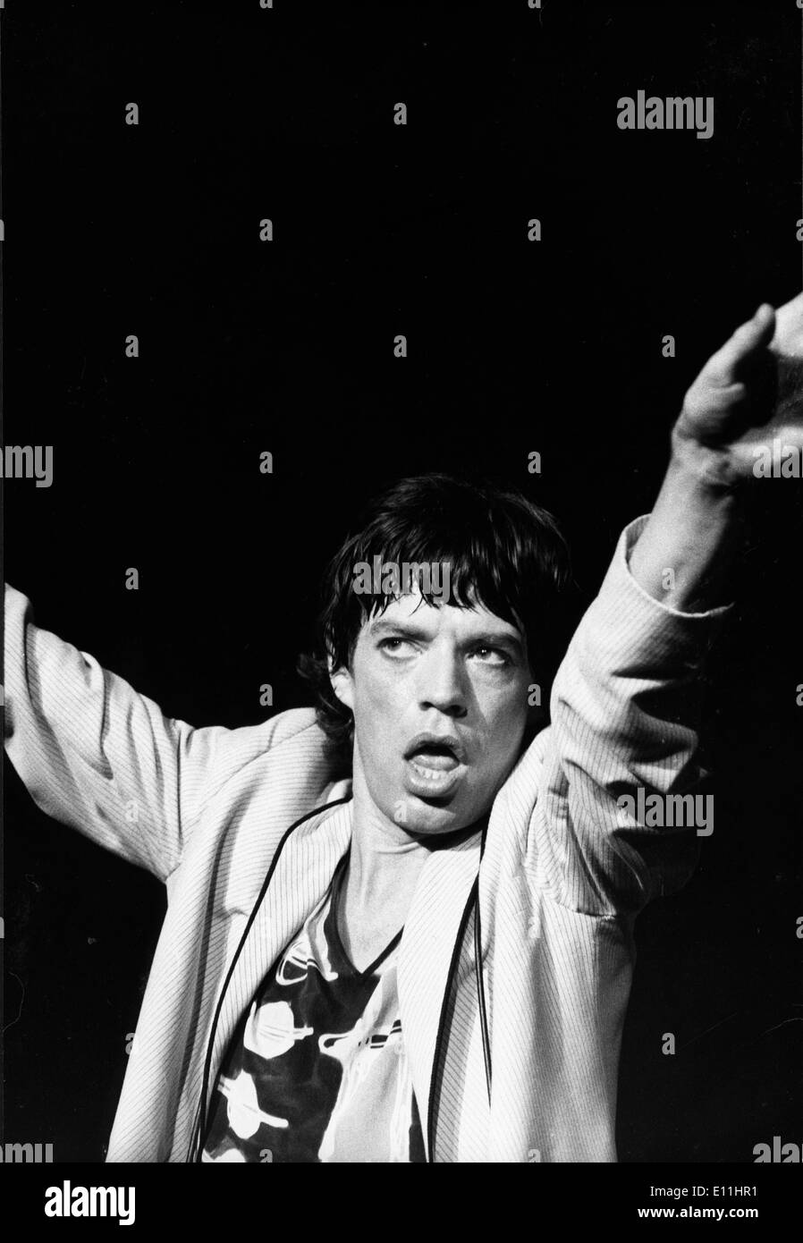 Rolling Stones singer Mick Jagger performs in New York - Stock Image
