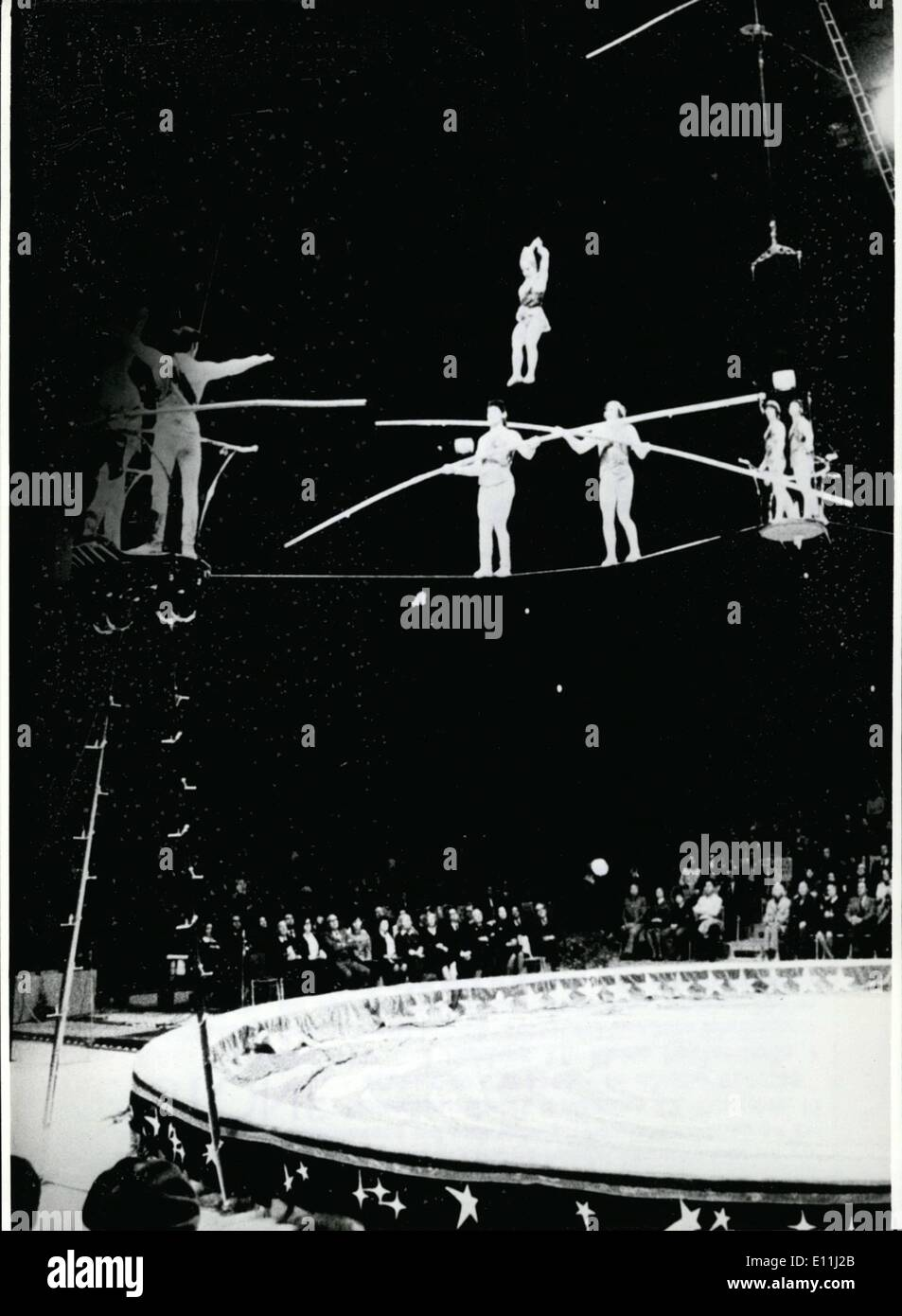 Apr. 04, 1978 - The Russian National Circus stars in Munich. To one of the best circus-programs of the world the inhabitants of Munich can look forward. From April 12th to 23rd, the Russian National Circus stars in the Olympic Hall. What the Soviet Union sends on tour to the West, is the best, and so the audience can look forward to the first-class performances of 80 artistes and their 100 animals - Stock Image