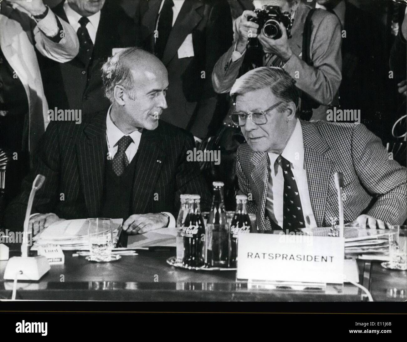 Jul. 07, 1978 - EC-Meeting in Bremen/West Germany – A two-day conference of the European Council take place in Bremen on - Stock Image