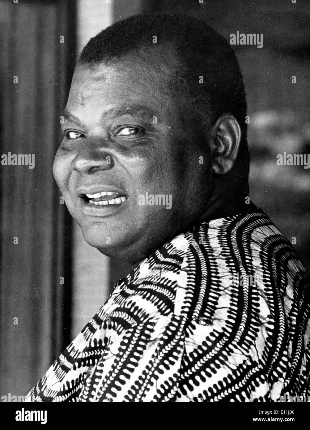 Apr 11, 1978; Luanda, Angola; DR. AZEVEDO, member of the Foreign Affairs Bureau, FNLA. - Stock Image