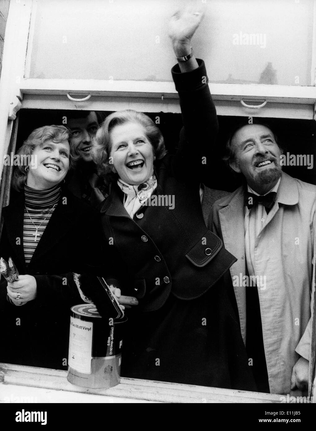 Margaret Thatcher with Horace Cutler - Stock Image