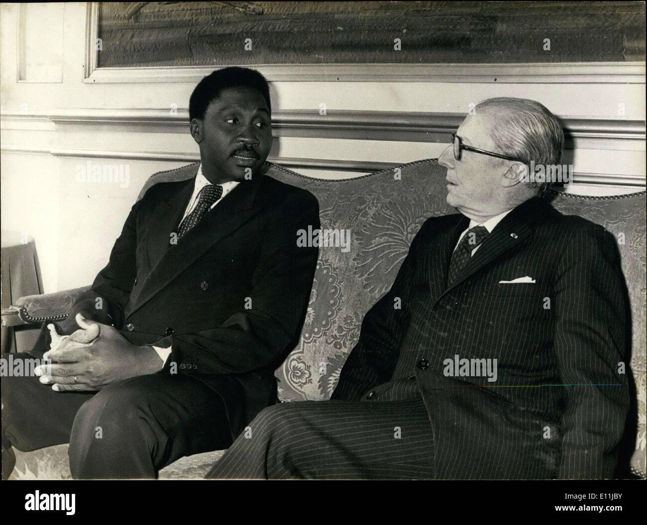 Apr. 21, 1978 - Lieutenant-Colonel Wadal Abdel Kader Kamougue, Minister of Foreign Affairs for Tchad, was received this morning - Stock Image