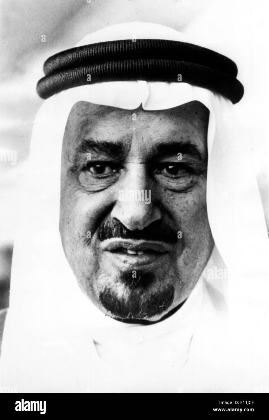 5508074 (900324) Koenig KHALED von Saudi-Arabien, Portrait vom Mai 1978 in Bruessel. 'Nutzung nur gegen Honorar, Beleg, - Stock Image