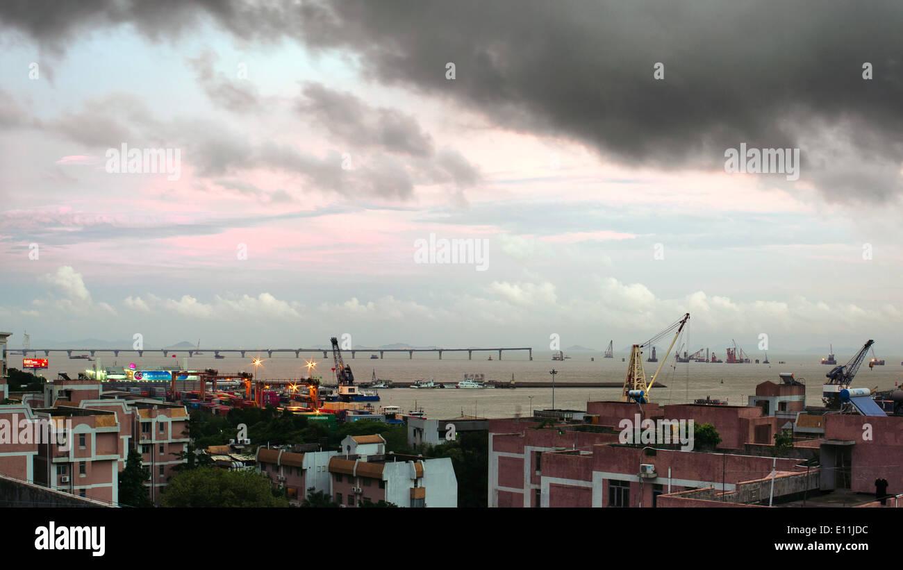 Hong Kong Zhuhai Macau Bridge Construction Site - Stock Image