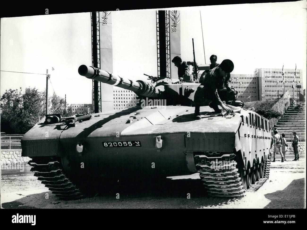 May 05, 1978 - Israel Shows off Its New Tank. The latest weapon in the Israel Army is this new 56-ton tank, with Stock Photo