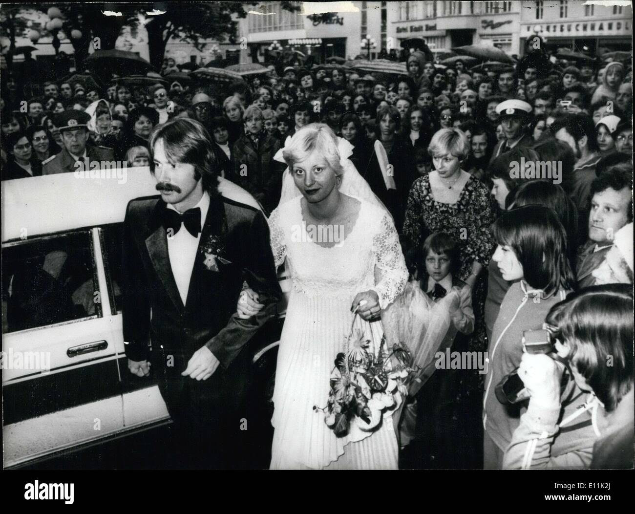 May 29, 1978 - Wedding of Olympians Kornelia Ender and Roland Matthes Stock Photo