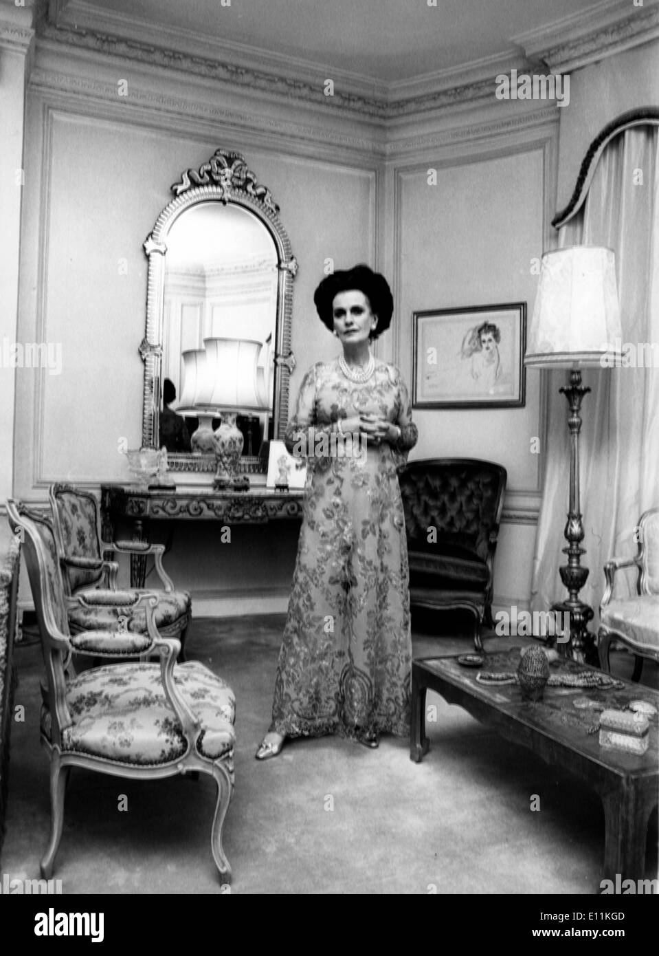 Sep 25, 1978; London, UK; The DUCHESS OF ARGYLL is surrounded by the splendid French furniture of her drawing room. (Credit - Stock Image