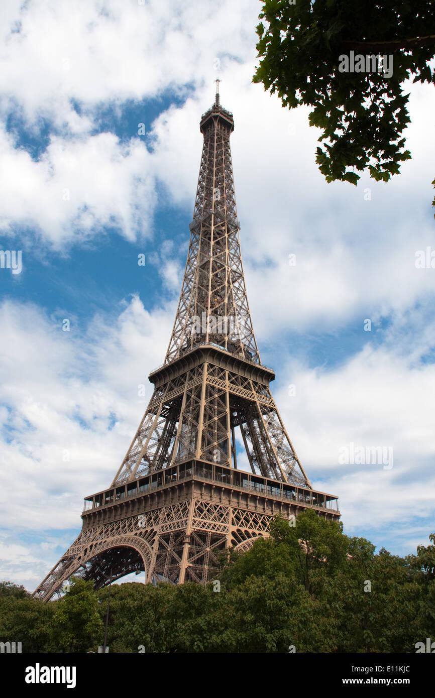 Eiffelturm, Paris, Frankreich - Eiffel Tower, Paris, France - Stock Image