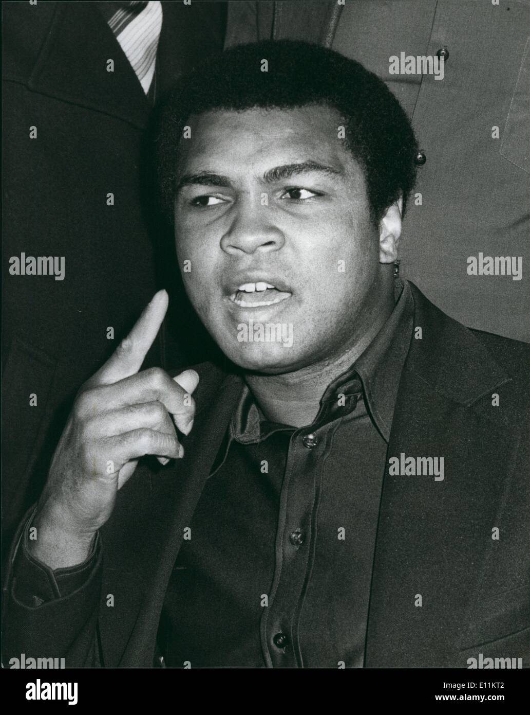 Jan. 01, 1979 - Muhammad Ali seen during his press conference before the showing of the film - Stock Image