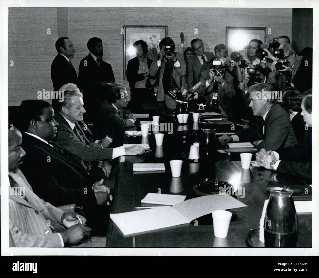 Oct. 10, 1978 - State Dept. meeting at Sec. Vance. - Stock Image