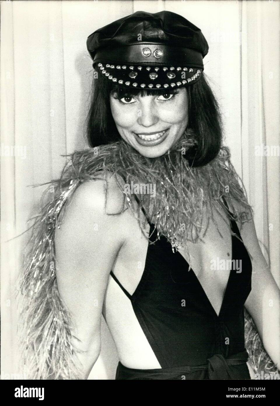 Jan. 18, 1979 - Crazy Horse Saloon Girl Ruby Montana - Stock Image