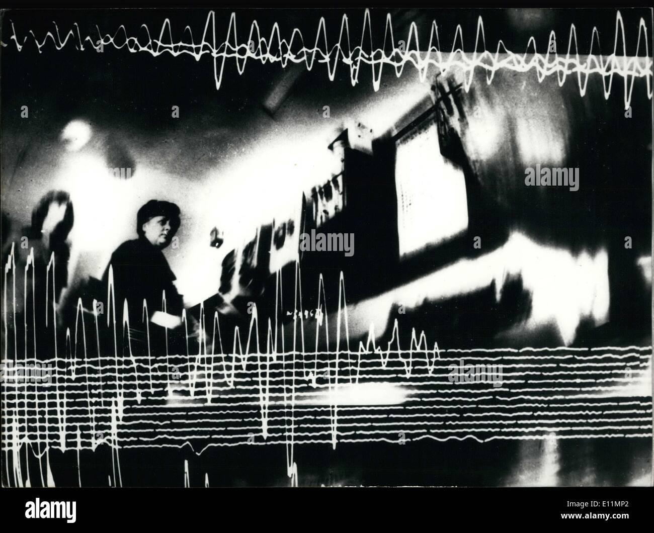 Dec. 04, 1978 - Earthquakes Charted Illuminated Signs Moldova - Stock Image