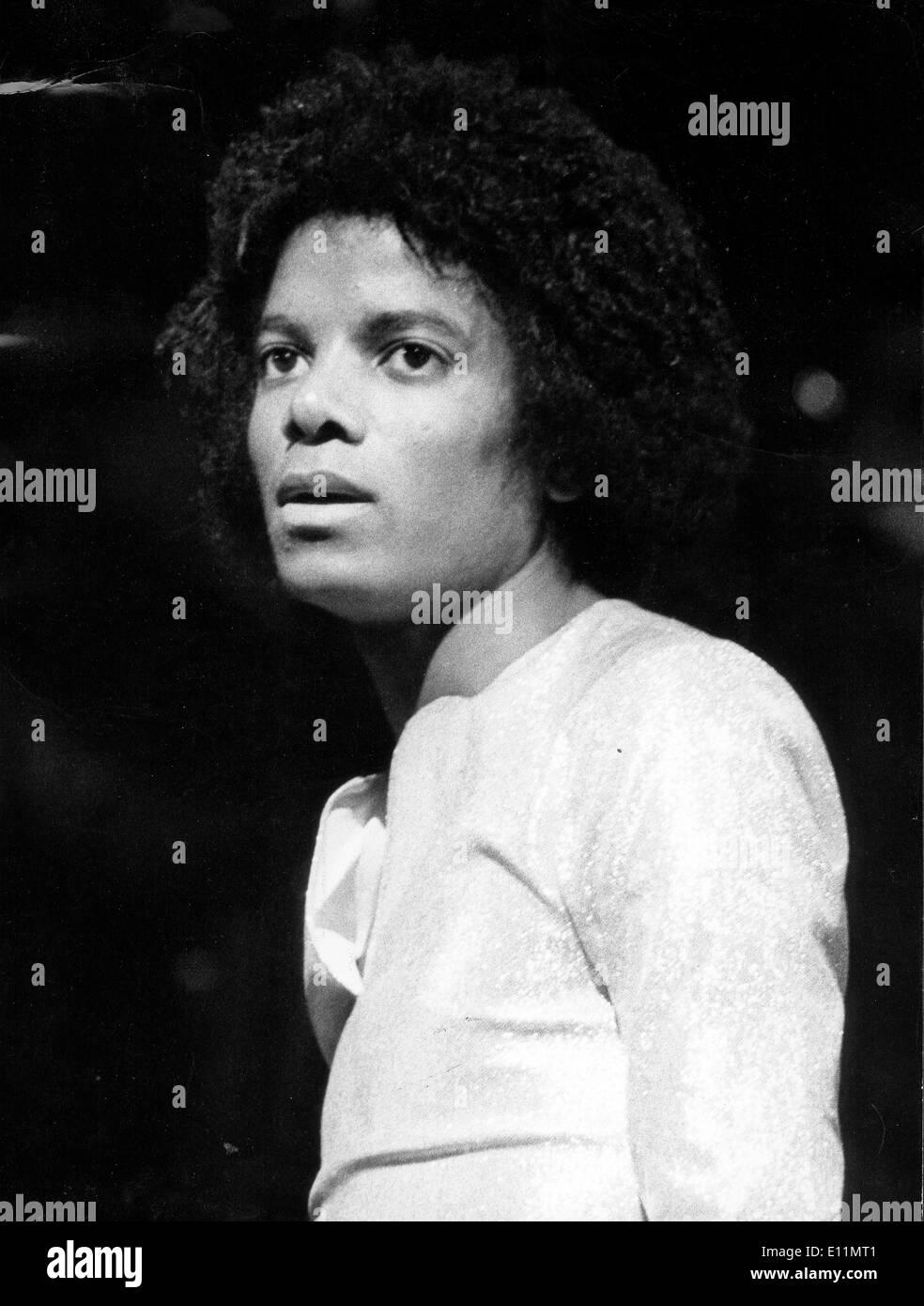Michael Jackson before first Jackson 5 concert - Stock Image