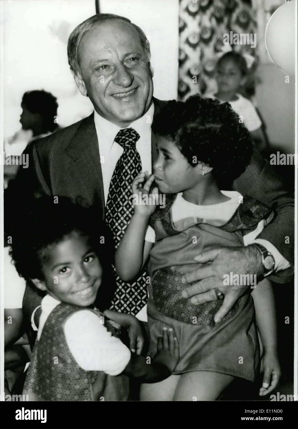 Jun. 23, 1979 - To The 60th Birthday of Hermann Gmeiner At June 23rd 1979. ''To help and to love is the most ripe and the most perfect expression of the human reason''. This phrase of the Austrian social-educationalist Hermann Gmeiner, who was born at June 23rd 1919 in Alberschwende/Austria; was his motto since the year 1949 in which the first SOS-educational city in Imst/Tyrolia was founded, which had the of that time medicine-student adhered till today - Stock Image