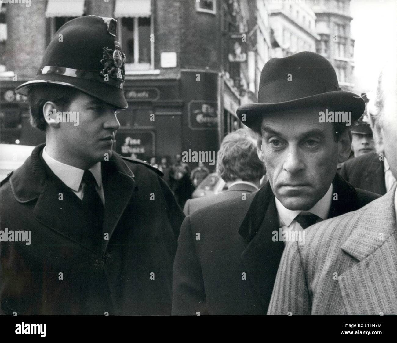May 05, 1979 - Jeremy Thorpe arrives at the Old Bailey: Arriving at the Central Criminal Court (Old Bailey) forStock Photo