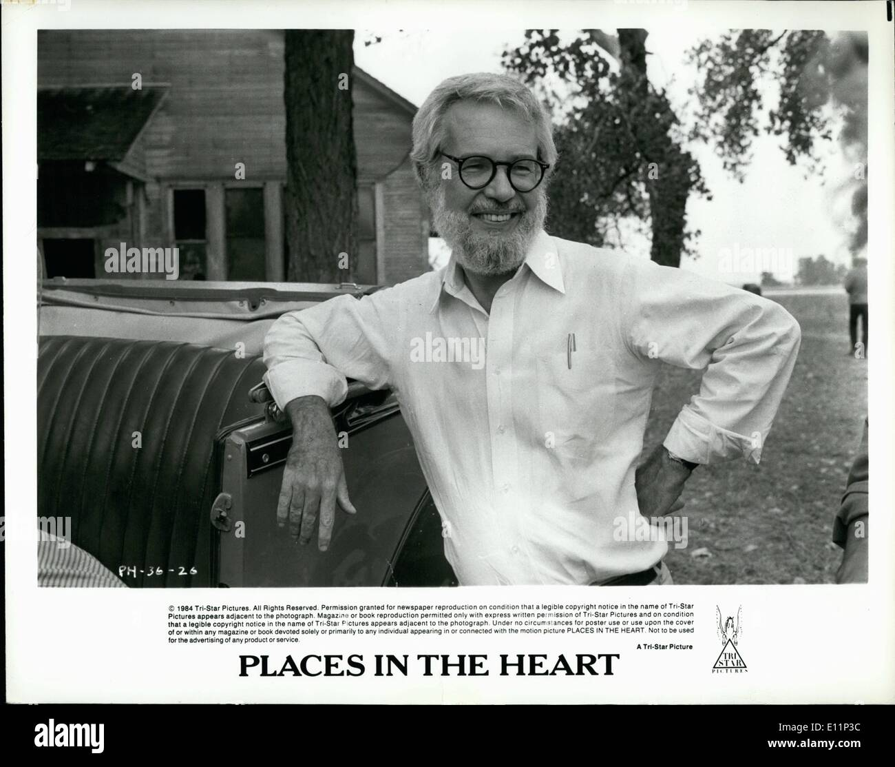 May 05, 1979 - Robert Benton, Academy Award winner for writing and directing ''Kramer Vs. Kramer,'' has writte and directed Places In The Heart for release by Tri-Star. Produced by Arlene Donovan, Places In The Heart ios recalled from Benton's Chilhood and serves as a personal tribute to the people of the twon of Waxahachie,Texas, where four generations of Benton's family were born, raised and died. Sally Field Stars. - Stock Image