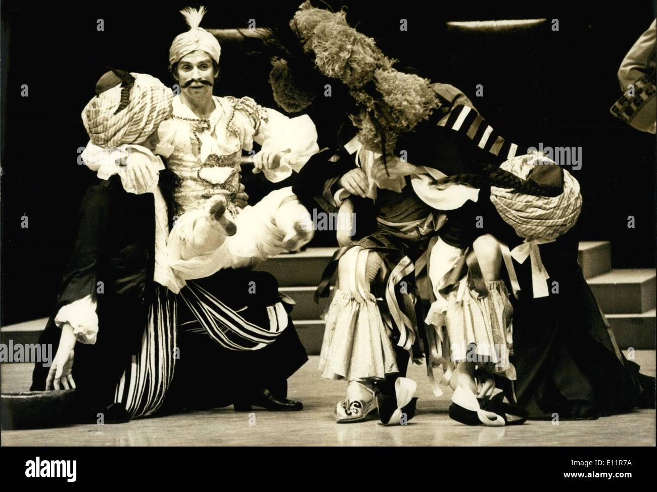 Dec. 12, 1979 - After injuring his left foot and being out of the theater for a few weeks, Rudolf Nourrev is returning to the Palais des Sports. The famous dancer will be performing in the opera ballet ''Le Bourgeois Gentilhomme,'' Moliere's famous comedy which has been tu - Stock Image