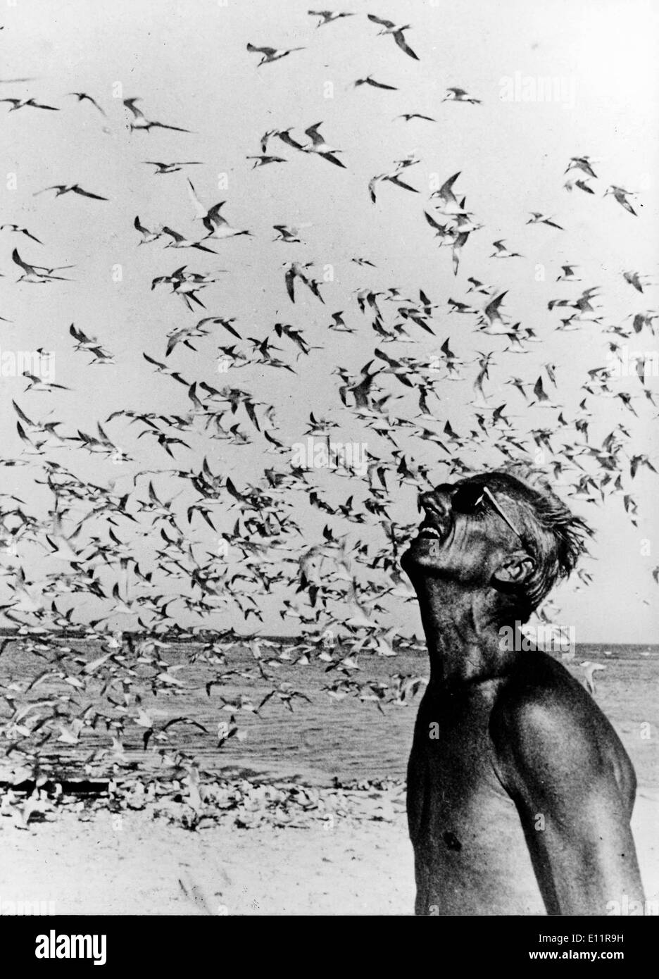Jan 01, 1980 - unknown - (File Photo, c1970's, location unknown) JACQUE-YVES COUSTEAU was a French naval officer, Stock Photo