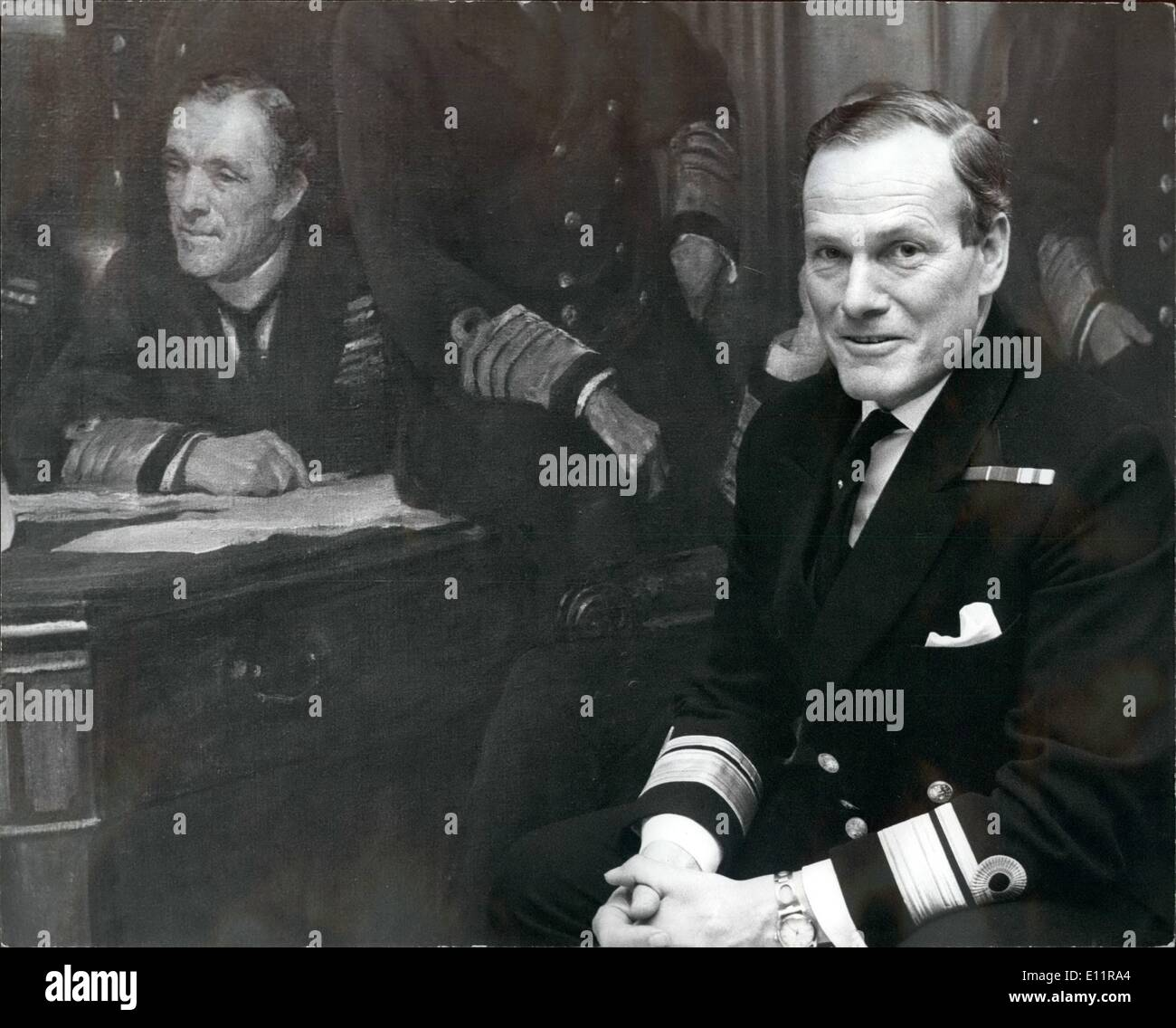 Jan. 01, 1980 - Rear Admiral William Doveston Staveley appointed Vice Chief of Naval Staff.: Like grandfather, like Stock Photo