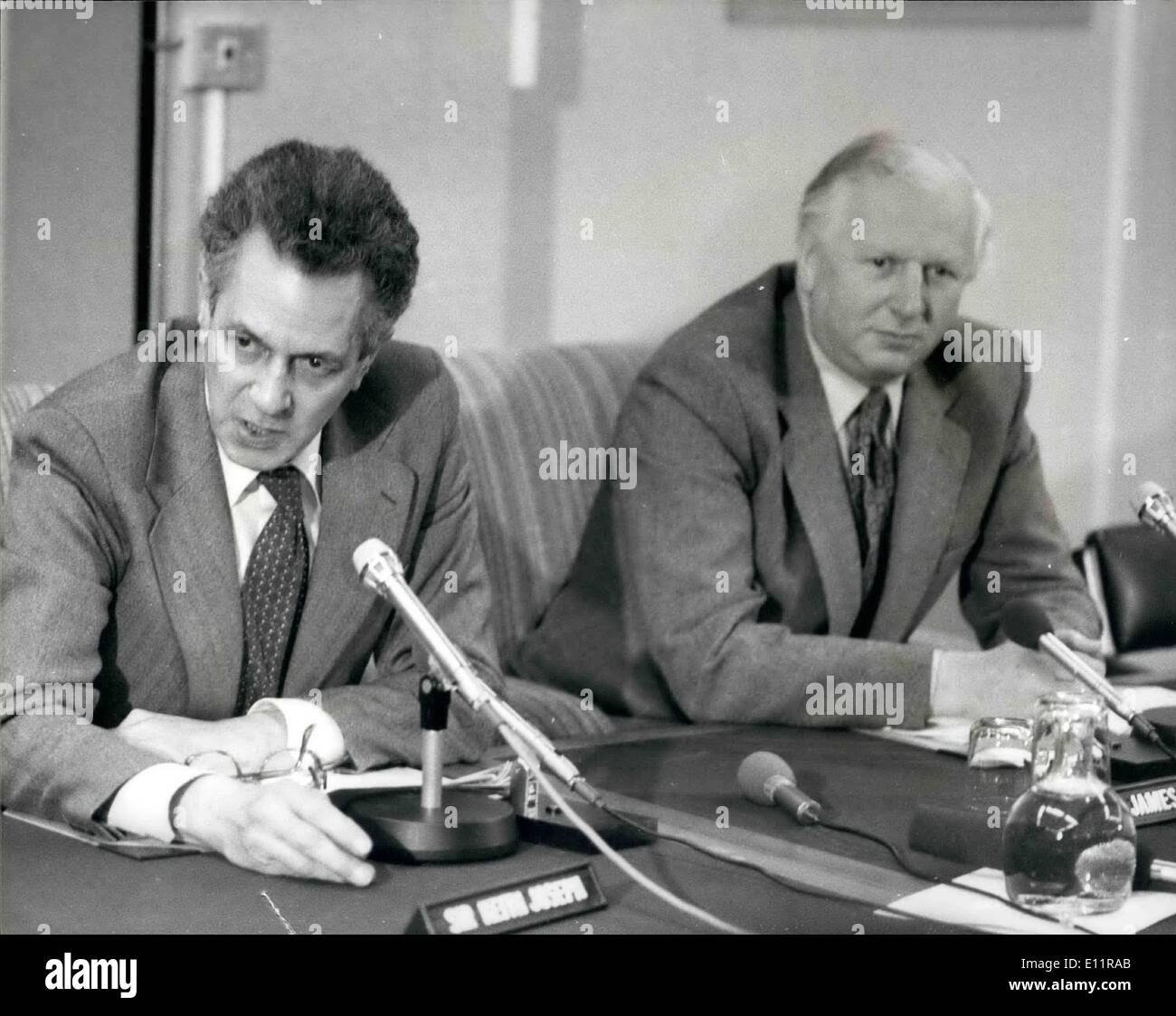 Jan. 01, 1980 - STEEL STRIKE LEADER MEET SIR KEITH JOSEPH AID MR PRIOR AT THE INDUSTRY DEPARTMENT IN LONDON New Stock Photo