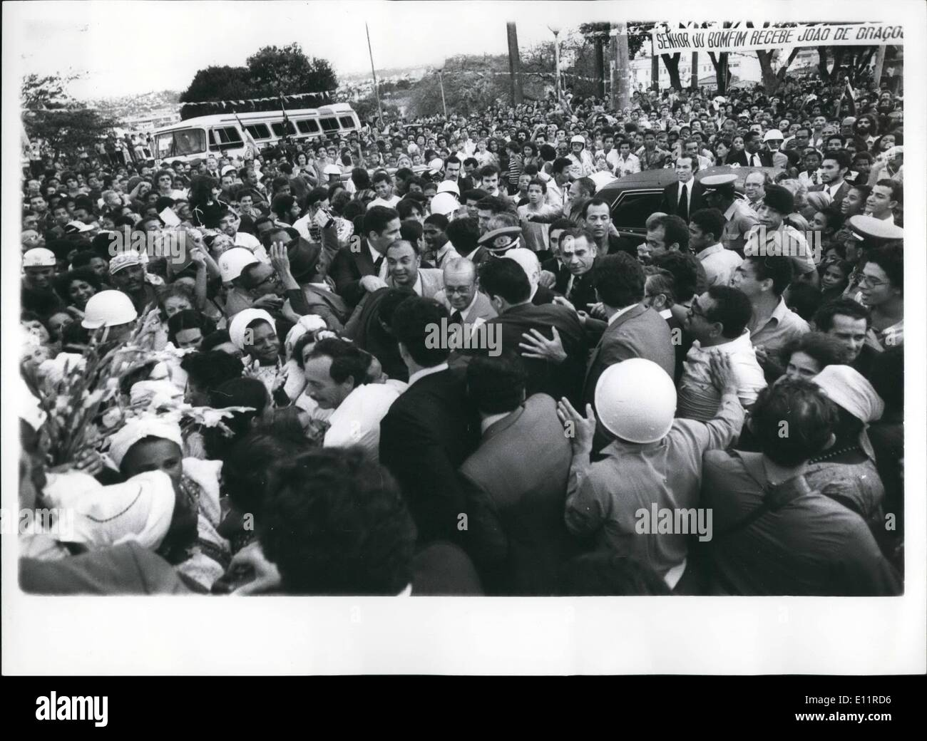 Oct. 10, 1979 - Figurines in Crowd in Salvador, Capital of State of Bahia. - Stock Image