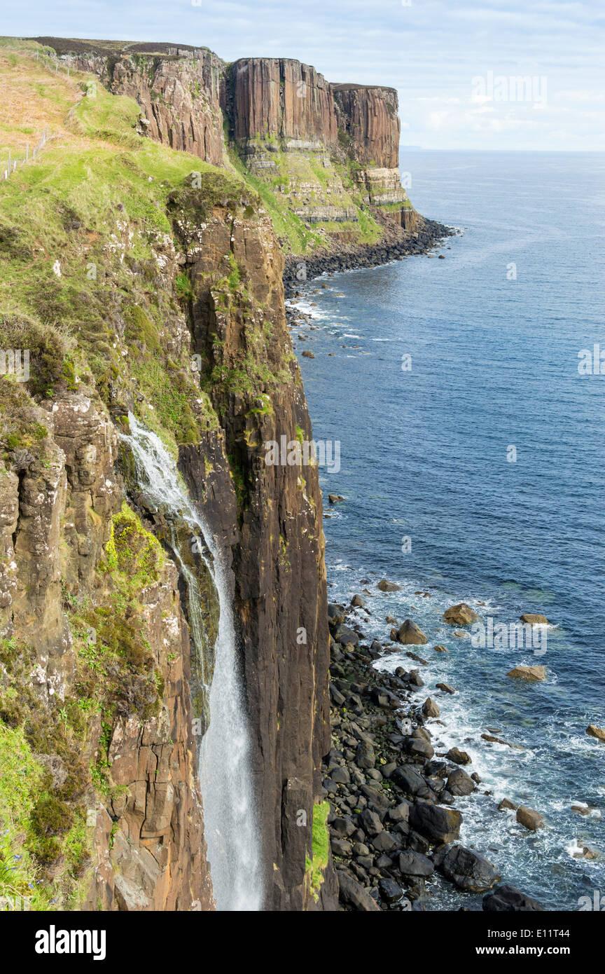 KILT ROCKS AND  MEALT WATERFALL ELISHADER ON THE  ISLE OF SKYE SCOTLAND - Stock Image