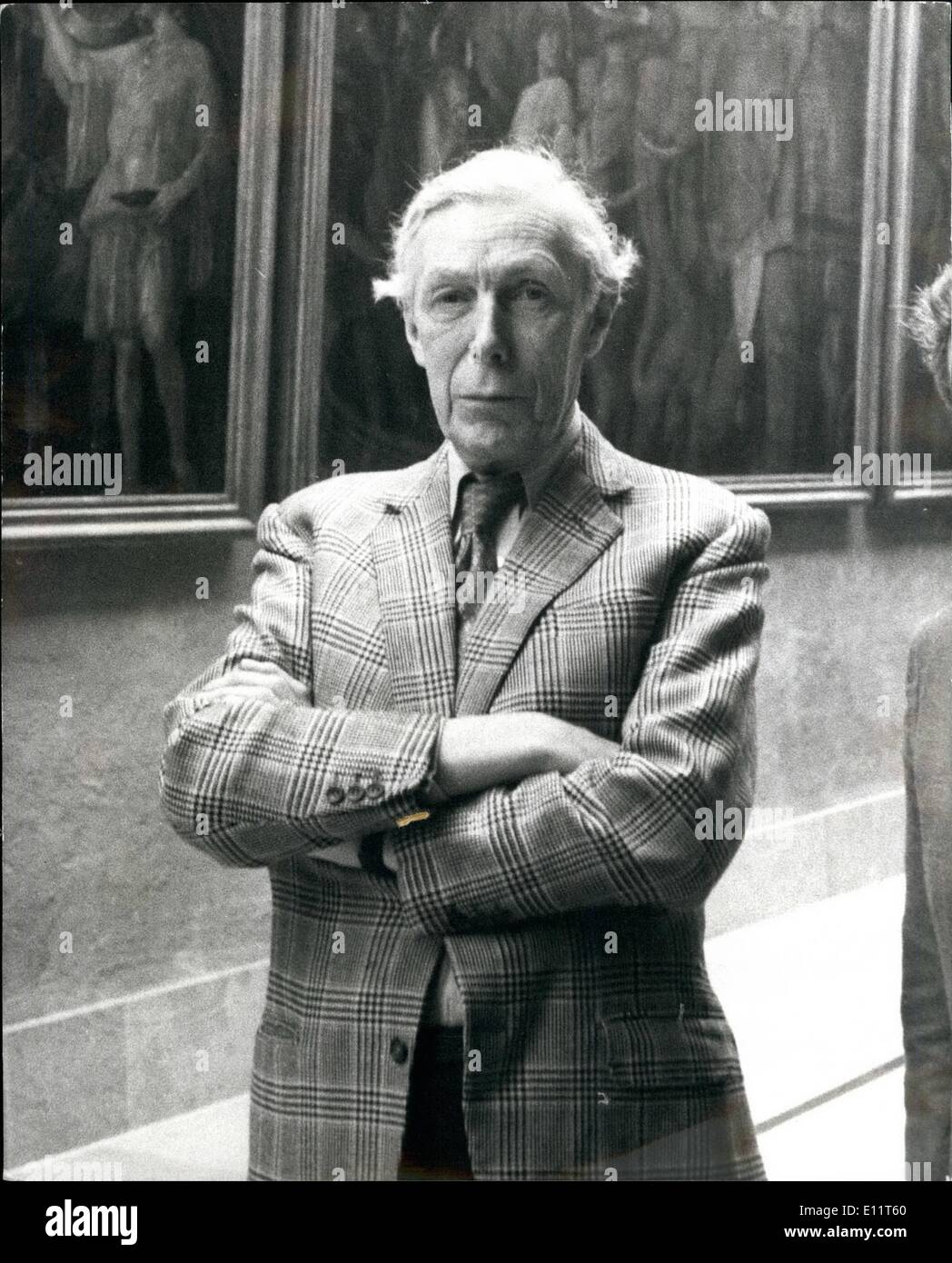 Nov. 11, 1979 - Sir Anthony blunt mentioned in connection with the Burges and MaClean spy case.: Sir Anthony Blunt, who used to - Stock Image