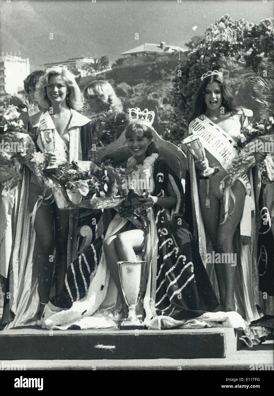 Mar. 05, 1980 - ''Miss Europe'' Karin Zorn is shown here with Belgium's Christine Cailliau (left) and Spain's LolaStock Photo