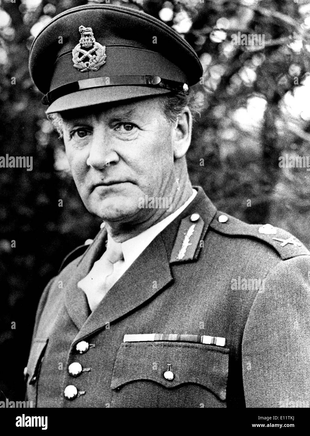Dec 07, 1979; London, UK; General Officer commanding the army's South West District, Major General JOHN ACLAND, Stock Photo