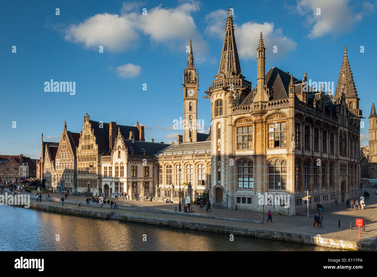 Ghent old town, Belgium. - Stock Image