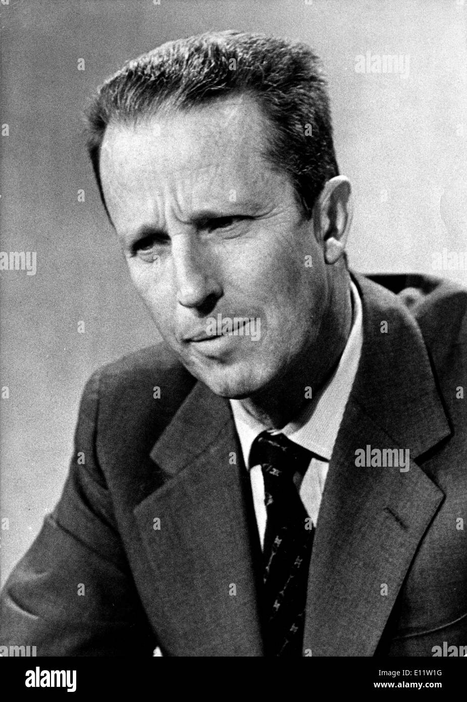 KING BAUDOIN of Belgium reigned from 1951 until his death in 1993. - Stock Image