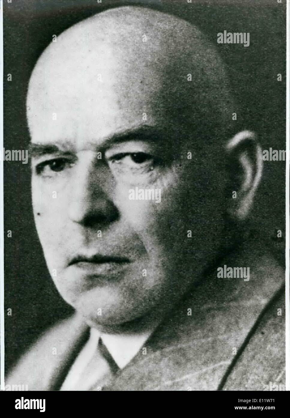 May 05, 1980 - 100th Birthday Oswald Spengler: At May 29th, 1886 in Blankenburg/West-Germany the professor for history and cultural - philosopher Oswald Spengler (Oswald Spengler, picture) was born. ''The end of the Occident'' a history-philosophy, influenced by Goethe and Nietzsche. In it he developed his theory, after it the world history till now was a unconnect side by side of eight independent high cultures. The work culminated in the thesis, the culture of the West ''have passed over it's culmination point - Stock Image