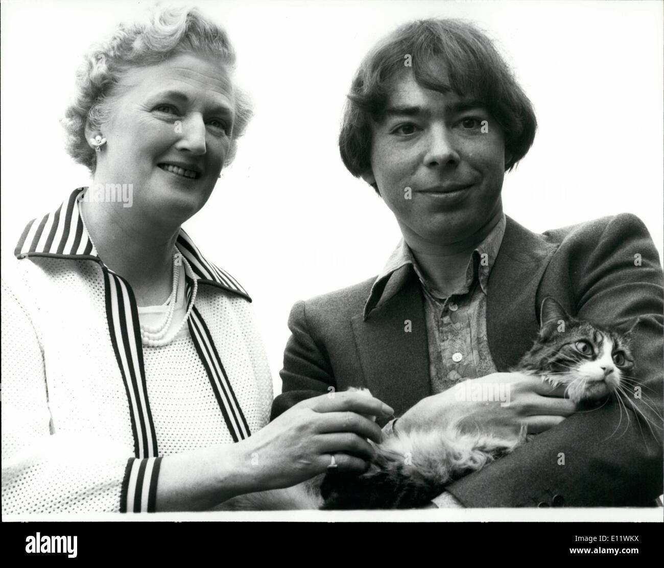 Sep. 09, 1980 - NEW LLOYD WEBBER MUSICAL FOR WEST END ''Cats'' is the title of new musical by Andrew Lloyd Webber announced today. It will be the first West End musical by him since the award-winning ''Evita'' opened in London in June 1978. Inspired by poems both published and unpublished by T S Eliot, including the internationally famous ''Old Possums Book of Practical Cats'', itvis scheduled to, open in London in April 1981. The new show will be directed by Trevor Nunn of the Royal Shakespeare Company and choreographed by Billian Lynne Stock Photo