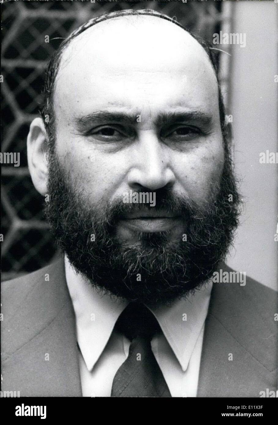 Jun. 13, 1980 - He will succeed Jacob Kaplan. He was born in Algeria in 1930. He was the director of the Hebrew - Stock Image