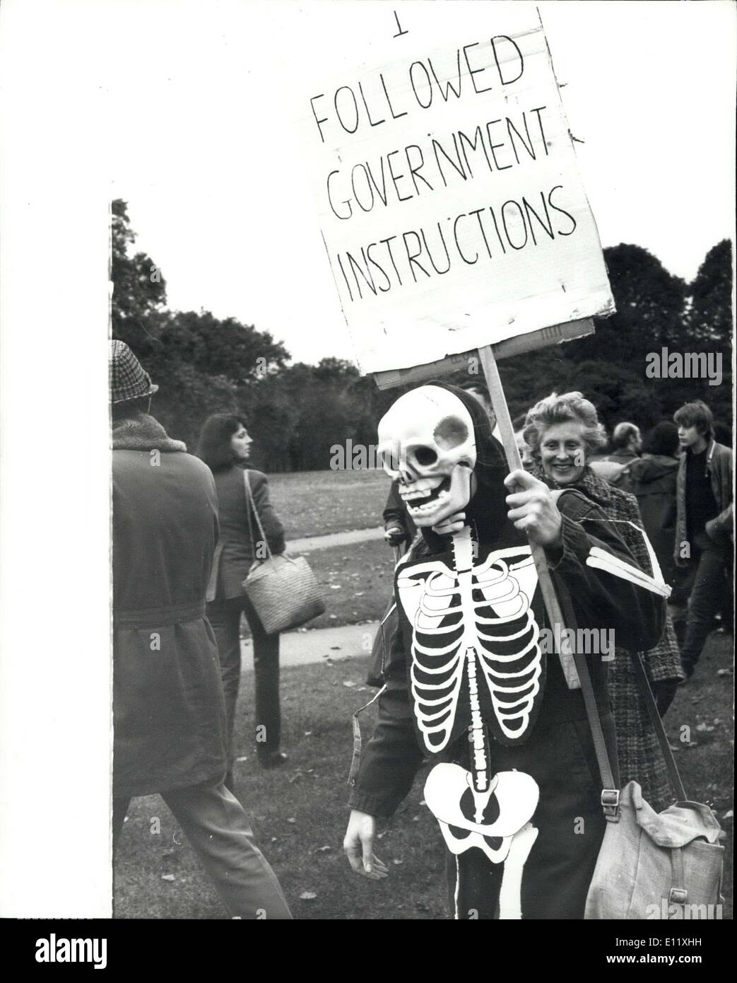 Oct. 27, 1980 - 50,000 Demonstrators March Through London The largest demonstration against nuclear weapons sinceStock Photo