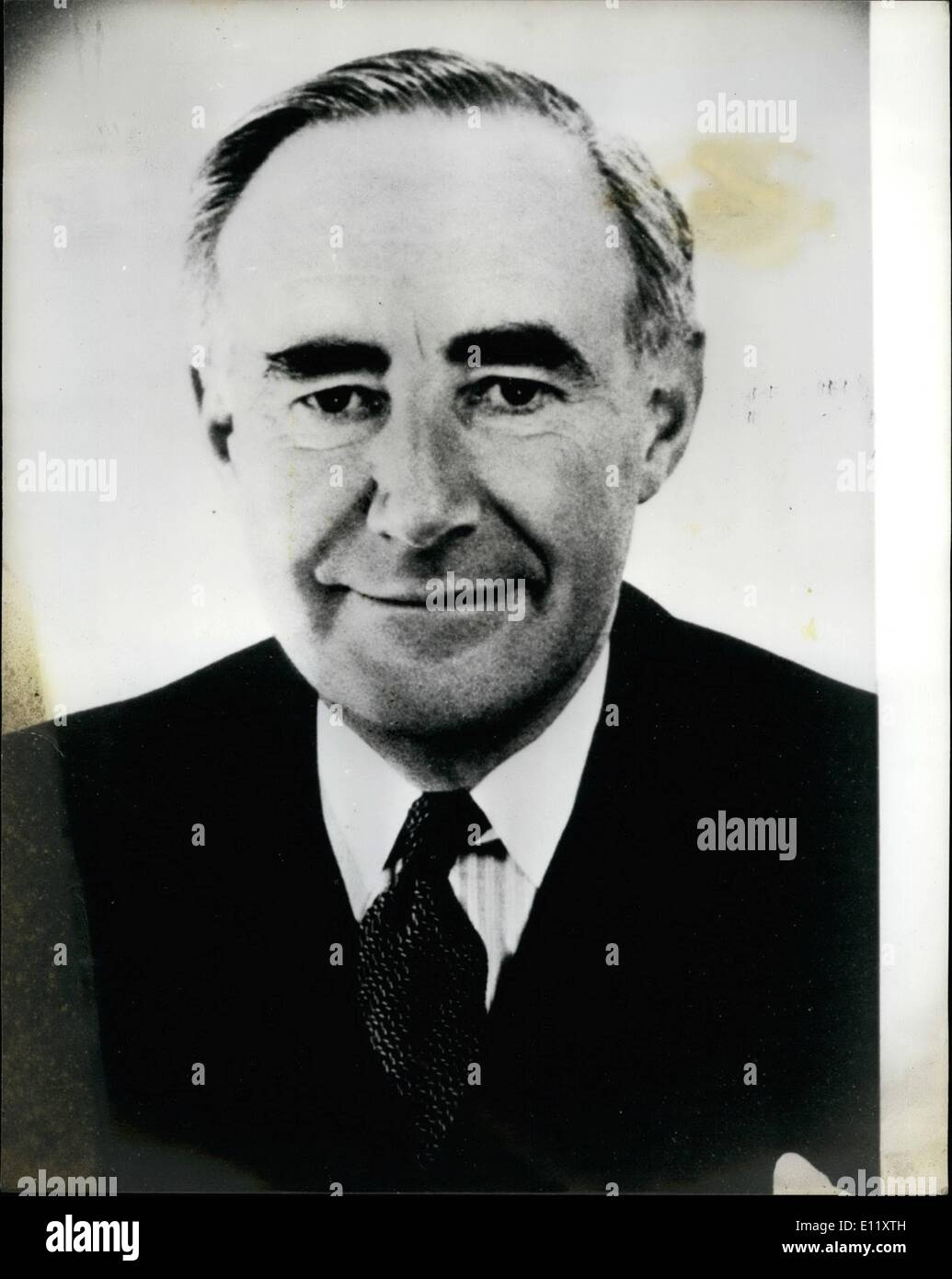 Mar. 03, 1981 - Sir Roger Hollis Former head of M15 from 1956 to 1965, is suspected of being a KGB agent, he died in 1975. The Prime Minister, Mrs. Margaret Thatcher has ordered a major investigation at the highest level into the security implications that many top people in high places have been involved with the KGB. A claim was made yesterday that Mr - Stock Image