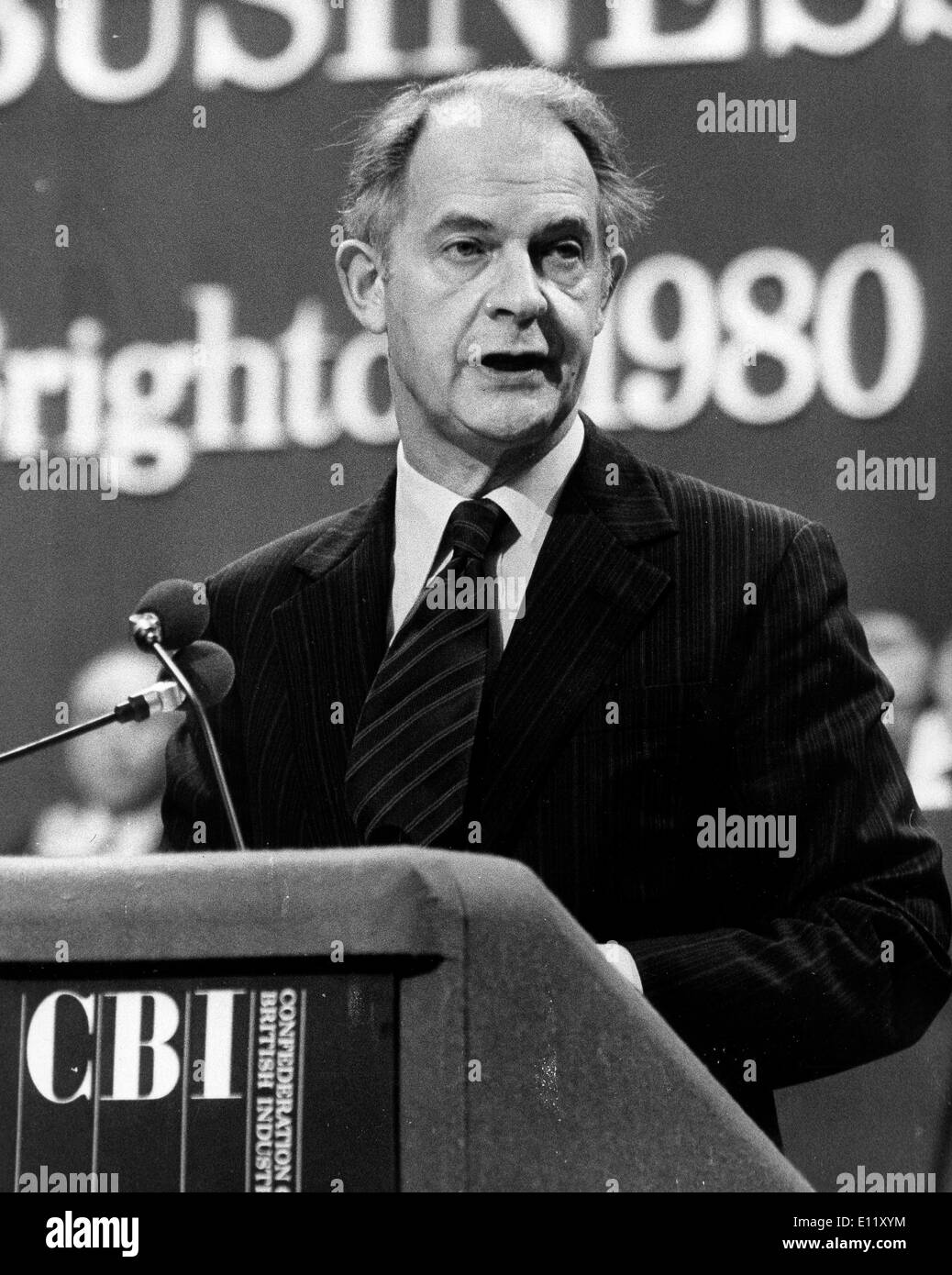 Nov 12, 1980; London, UK; Sir TERENCE BECKETT Director General of the British Industry at the CBI Conference - Stock Image